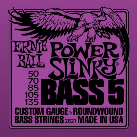 Cuerdas Bajo Ernie Ball Power Slinky 2821 50-135 5 Strings