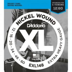 Cuerdas Eléctrica D´Addario EXL148 Nickel Wound 12-60 C Tuning