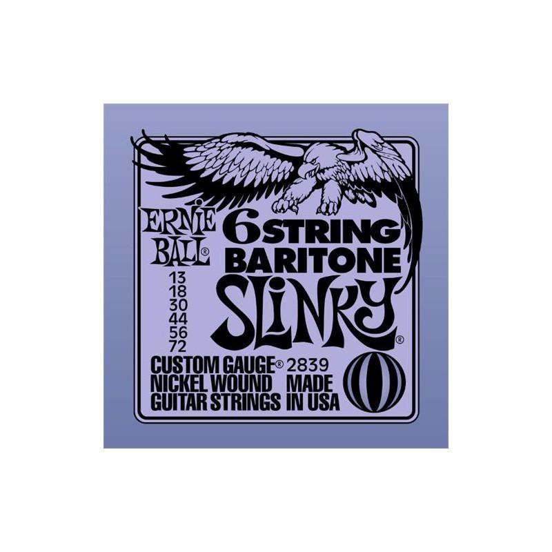 Cuerdas Eléctrica Ernie Ball Baritone 2839 13-72 6 String