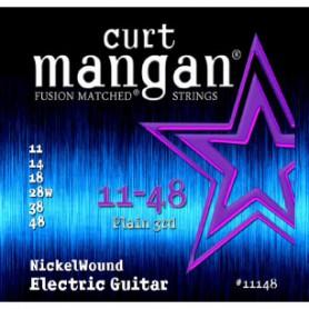 Cordes Elèctrica Curt Mangan 11-48 Nickel Wound Fusion Matched