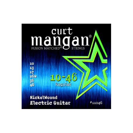 Cuerdas-Eléctrica-Curt-Mangan Nickel Plated 10-46 Regular