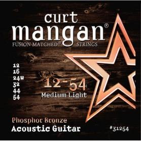Cuerdas Acústica Curt Mangan Phosphor Bronze 12-54