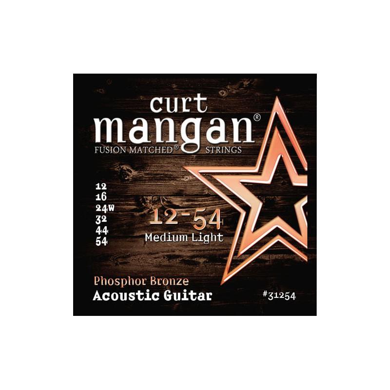 Cuerdas-Acústica-Curt-Mangan Phosphor Bronze 12-54