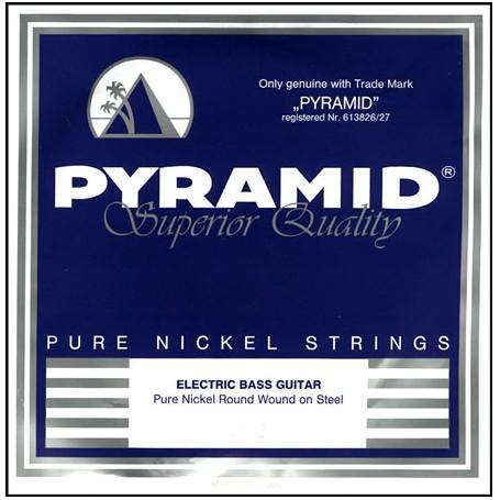 Cuerdas Bajo Pyramid Pure Nickel Round Wound 45-105 Short Scale