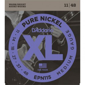 Cuerdas Eléctrica D´Addario EPN115 Pure Nickel Medium Gauge 11-48