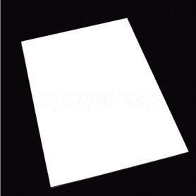 White Pickguard Material Sheet 30x45cm.