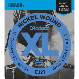 D´Addario EJ21 12-52 Jazz Light Electric Strings