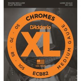 Cuerdas Bajo D´Addario Chromes ECB82 Flatwound 50-105