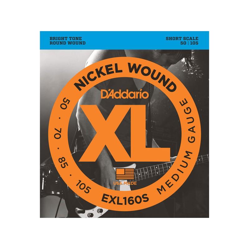 Cuerdas Bajo D´Addario EXL160S Short Scale 50-105