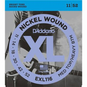 Cordes Elèctrica D'Addario EXL116 Medium Top/Heavy Bottom 11-52