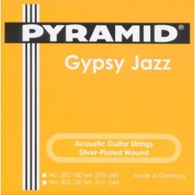 Cuerdas Acústica Pyramid Gypsy Jazz Django Style Light 11-46 Loop End