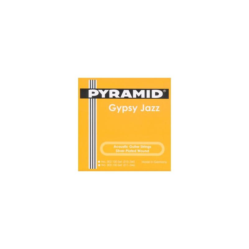 Cuerdas Acústica Pyramid Gypsy Jazz Django Style Light 11-46 Loop End