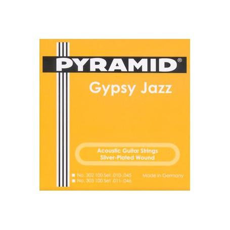 Cuerdas Acústica Pyramid Gypsy Jazz Django Style Semi Light 10-45 Loop End