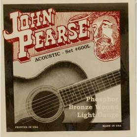 Cuerdas Acústica John Pearse 600L Phosphor Bronze Light 12-53