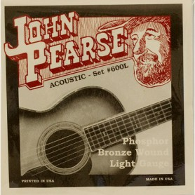 John Pearse 600L Phosphor Bronze Light 12-53 Acoustic Strings