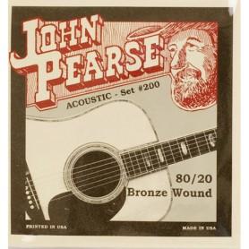 Cordes Acústica John Pearse 200L 80/20 Bronze Light 12-53