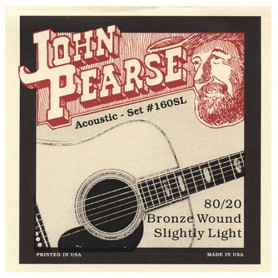 John Pearse 160SL 80/20 Bronze Slightly Light 11-50 Acoustic Strings