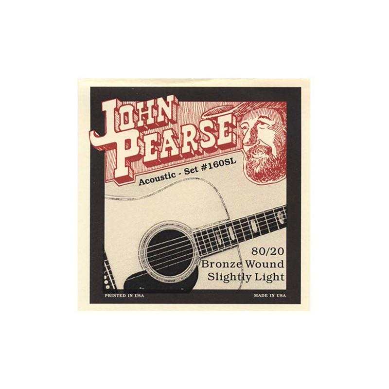Cuerdas-Acústica-John-Pearse 160SL Bronze Slightly Light 11-50