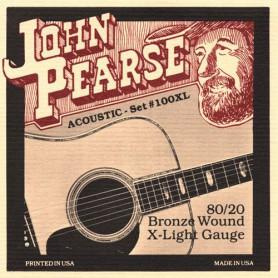 Cordes Acústica John Pearse 100XL 80/20 Bronze Extra Light 10-47