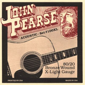John Pearse 100XL 80/20 Bronze Extra Light 10-47