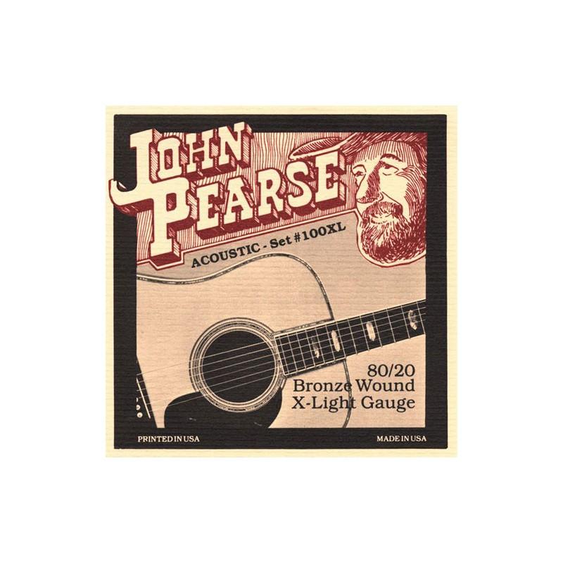 Cuerdas-Acústica-John-Pearse 100XL Bronze X-Light 10-47