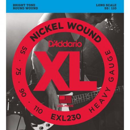 Cuerdas Bajo D´Addario EXL230 Nickel Wound Heavy Gauge 55-110