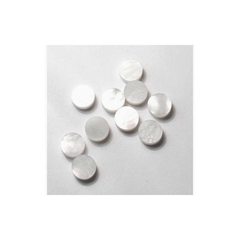 Dot-Inlays-de-diapasón-White Pearl