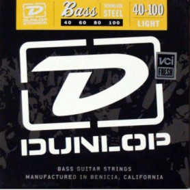 Dunlop Nickel Plated Bass Strings 40-100