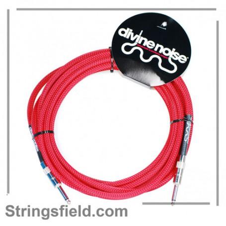 Cable-de-Instrumento-Divine Noise Color Red Jack-Jack 10-ST-ST 3m.