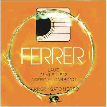 Cuerda suelta Laúd 2ª Mi E 11522 Gato Negro/Ferrer. Acero al carbono.