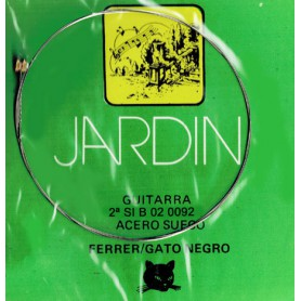 Cuerda suelta Guitarra 2ª Si B 02 Gato Negro/Ferrer. Acero sueco.