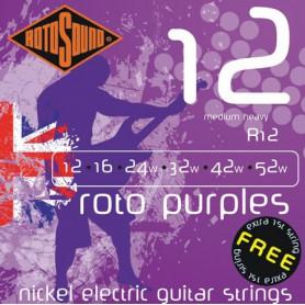 Cuerdas Eléctrica Rotosound Roto Purples 12-52
