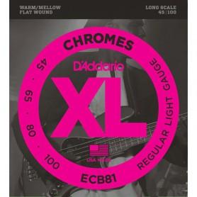 Cuerdas Bajo D´Addario Chromes ECB81 Flatwound 45-100