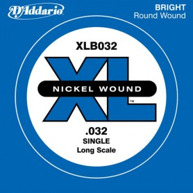 D´Addario Nickel Wound Single Bass String XLB032