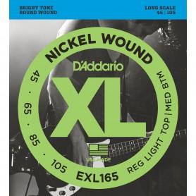 Cordes Baix D'Addario EXL165 Nickel Wound 45-105