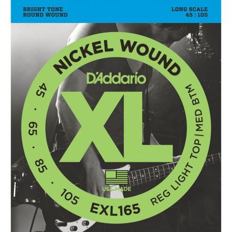 Cuerdas Bajo D'Addario EXL165 Nickel Wound 45-105 Long Scale