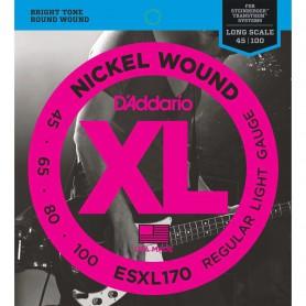 Cordes Baix D'Addario ESXL170 Nickel Wound Doble Bola 45-100