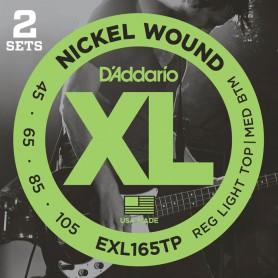 Cuerdas Bajo D´Addario EXL165TP Nickel Wound 45-105 2 Sets