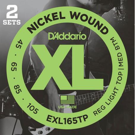 Cuerdas Bajo D´Addario Nickel Wound EXL165TP 45-105 2 Sets
