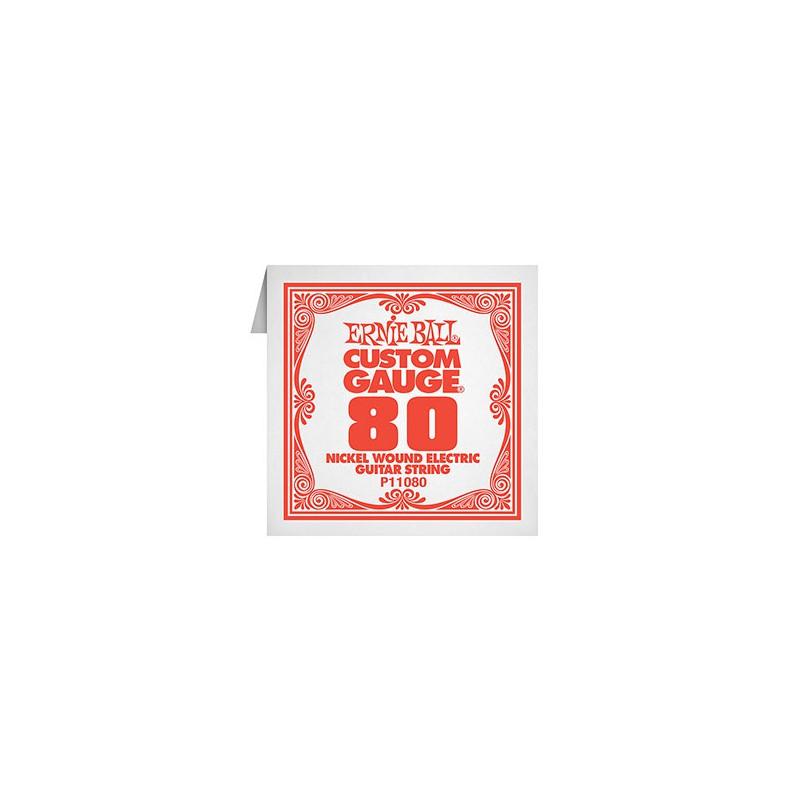 Cuerda-Suelta-Eléctrica-Ernie Ball P11080 Nickel Wound 080