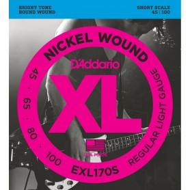 Cuerdas-Bajo-D'Addario-EXL170S Nickel Wound Short Scale 45-100