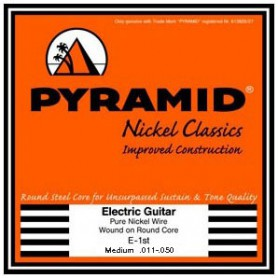 Cuerdas Eléctrica Pyramid Pure Nickel Classics Round Core Medium 11-50