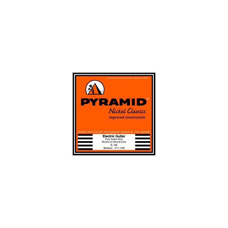 Cuerdas-Eléctrica-Pyramid-Pure Nickel Classics Round Core 11-50 Medium