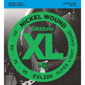 Cordes Baix D'Addario EXL220 Nickel Would 40-95