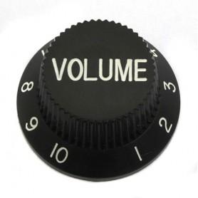 Botón de Potenciómetro de Volumen Tipo Strat Negro