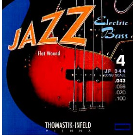 Cuerdas Bajo Thomastik Jazz JF344 Flatwound 43-100