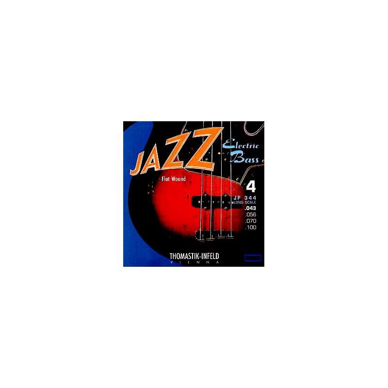 Cuerdas Bajo Thomastik Jazz JF344 Flatwound 43-100