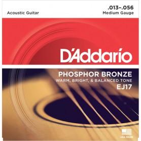 Cordes Acústica D'Addario EJ 17 Phosphor Bronze 13-56