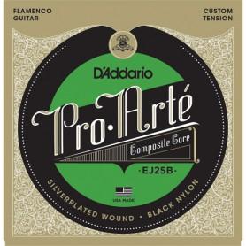 Cuerdas Clásica D´Addario ProArte EJ25B Flamenco Black Nylon