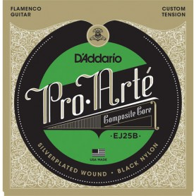 D´Addario Pro Arte EJ25B Flamenco Black Nylon Composite Strings